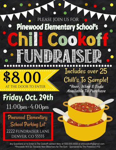 chili cookoff flyer editable template