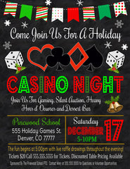 christmas casino night flyer