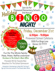 christmas bingo night flyer