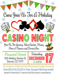 holiday casino night flyer