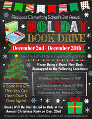 holiday book drive flyer