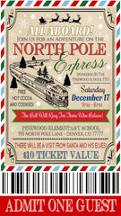 polar express ticket template