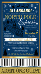 christmas polar express ticket template