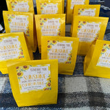 Quarantine Gift Tag - Box of Sunshine Sunflower Plant Gift, Neighbor Friend Coworker Staff Teacher Miss You Well Wishes, Editable Template