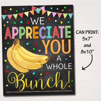 Appreciation Breakfast Printable Food Decor Signs