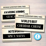Newspaper Theme Teacher Appreciation Printable Food Tent Labels