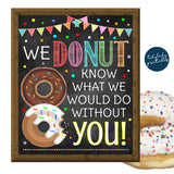 Donut Appreciation Week Printable Breakfast Sign