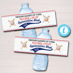 Baseball Theme Teacher Appreciation Water Bottle Labels