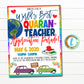 Quarantine Teacher Appreciation Week Parade Party Invitation