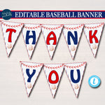 Printable Baseball Party Bunting Banner