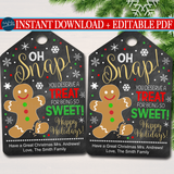 Christmas Cookie Gift Tag, Sweet Treat Holiday Bakery Appreciation Label