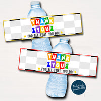 Board Games Theme Appreciation Printable Water Bottle Labels