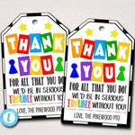 Board Games Theme Teacher Appreciation Printable Thank You Gift Tags