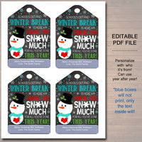 Christmas Teacher Appreciation Holiday gift tags
