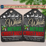We whisk you a merry Christmas printable gift tag