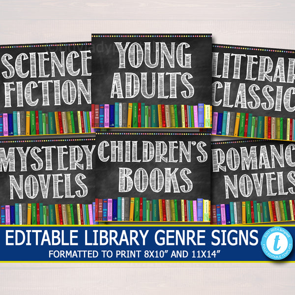 School Library Genre Posters