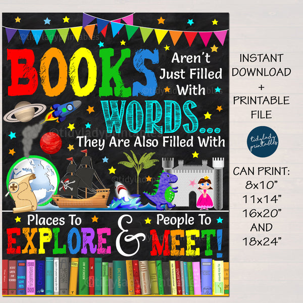 Classroom Books Are More Than Words School Library Poster