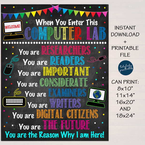 Computer Lab Poster - In This Classroom You Are Wall Decor