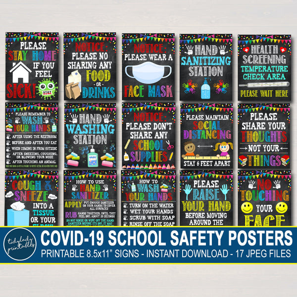 School Health Safety Poster Set