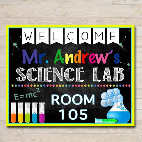 photograph about Printable Mad Science Sign named Science Trainer Clroom Doorway Signal, Science Lab Printable Clroom Indicator, Custom made Trainer Indicator, Instructor Doorway Hanger, Science Instructor Presents
