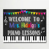 Music Teacher Classroom Door Sign - Editable DIY Template