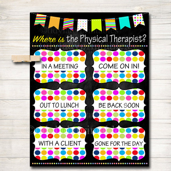 Where is the Physical Therapist Door Sign, Physical Therapist Gifts, Office Door Hanger Professional Office Sign, Physical Therapy Door Sign