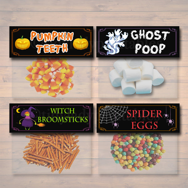 Halloween Treat Bag Toppers, Halloween Favor Tags, Halloween Candy Labels, Printable Trick or Treat Bags, Kids Halloween, INSTANT DOWNLOAD