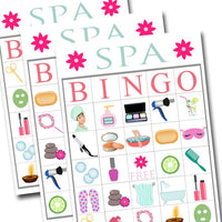 image regarding Spa Party Printable called Spa Bingo Printable Recreation, Gals Social gathering Activity, Spa Occasion, Magnificence Get together, Pamper Celebration Sleepover Recreation, Printable BINGO Sport - Quick Obtain