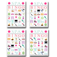 Spa Bingo Printable Game, Girls Party Game, Spa Party, Beauty Party, Pamper Party Sleepover Game, Printable BINGO Game - INSTANT DOWNLOAD