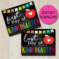 Back to School Photo Prop, First/Last Day of School Chalkboard Milestone Signs, Kindergarten, 1st Day of School Printable, INSTANT DOWNLOAD