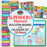 Superhero Classroom Bulletin Board Decorations, 176 Pieces!