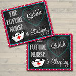 Nursing Student Door Signs, Printable, INSTANT DOWNLOAD, Dorm Room Door Sign, Nursing Student, Nurse Gifts, College Nurse Sleeping Studying