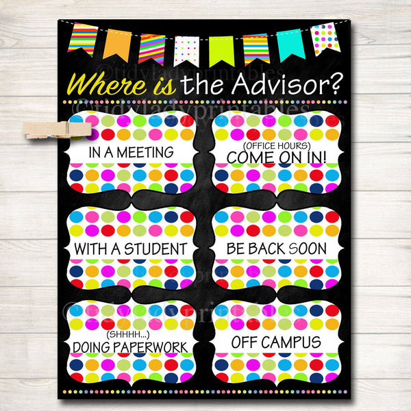 Where is the Advisor Door Sign, College Advisor Gifts, College Office Door Hanger, Professional Office Sign, Door Decor, College Office Sign