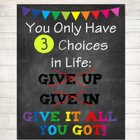 Classroom Decor Life Choices Inspirational Art, Counselor Office Poster, Social Work Office Art, High School Educational Motivational Poster