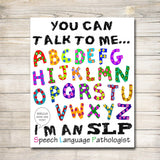 Speech Therapist, SLP Poster, Speech Language Pathologist Office Decor, Speech Therapy Poster, Speech Therapy Decor, Classroom Office Decor