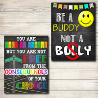 School Counselor Posters, School Psychologist Posters, Counselor Office Decor, Guidance Counselor Gifts Counselor Office Wall Art,  Set of 6