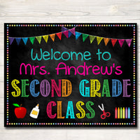 Teacher Classroom Door Sign - Editable Classroom Decor