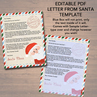 EDITABLE Nice/Naughty Certificates, Santa Letter Christmas Reward Certificate Santa's Nice List, Letter From Santa Template INSTANT DOWNLOAD