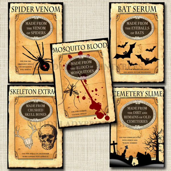 photo regarding Printable Halloween Labels named Printable Halloween Wine Labels, Traditional Halloween Labels, Halloween Occasion Decor, Halloween Reward, Apothecary, Personalized Wine Labels, Fixed of 5