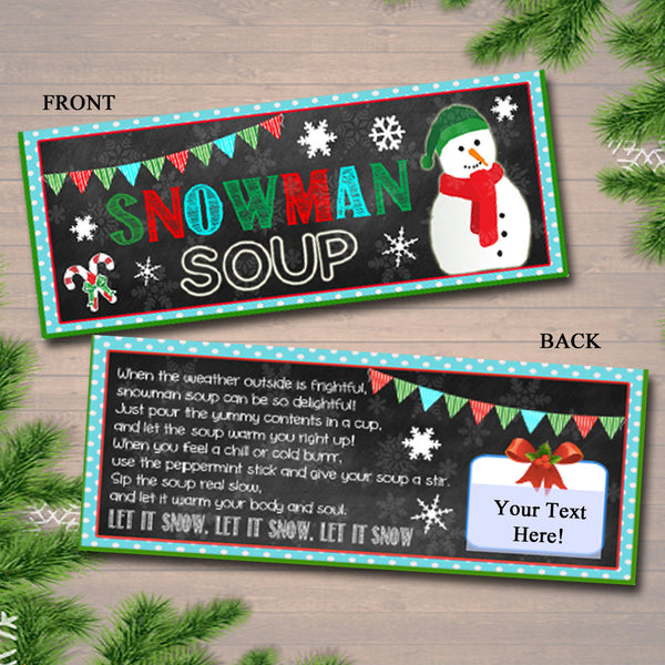 graphic relating to Snowman Soup Printable Tags referred to as EDITABLE Snowman Soup Bag Toppers, Printable Snowman Soup Tags, Quick Down load, Xmas Bag Toppers, Very hot Cocoa Bag Topper, Trainer Presents