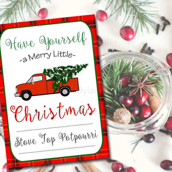 Editable Christmas Labels.Editable Christmas Tags Red Truck Holiday Tags Custom Christmas Labels Retro Plaid Christmas Card Plaid Flannel Vintage Christmas Labels