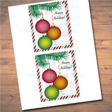 Lip Balm Christmas Card Holder, Gift Tags, Ornament Holiday Tags, Chapstick Card Stocking Stuffer, Holiday Teacher Gift, INSTANT DOWNLOAD