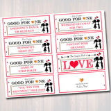 EDITABLE Love Coupon Book, INSTANT DOWNLOAD, Printable Love Coupons, Romantic Gift for Him, Sexy Valentine's Gift Spouse, Husband, Boyfriend