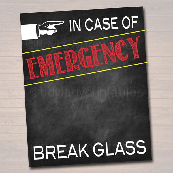 picture about In Case of Emergency Break Glass Printable identified as Inside of Scenario of Crisis Crack Gl Printable, Gag Present, Amusing Present, Imaginative Economic Present, Commencement Reward, Present towards Grandma Mom and dad, Xmas
