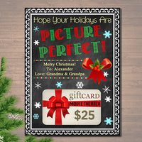 EDITABLE Christmas Movie Theater Gift Card Holder, Printable Christmas Teacher Gift, Hope Your Holidays Are Picture Perfect INSTANT DOWNLOAD