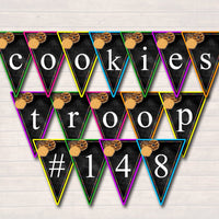 EDITABLE Cookie Booth Banner, Cookie Sign, Cookie Printables, Cookie Sales Bunting, INSTANT DOWNLOAD