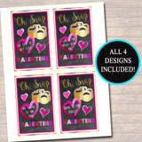 EDITABLE Tween Oh Snap Valentine's Day Cards, INSTANT DOWNLOAD, Printable Teen Valentine, Classroom Valentines, Camera Instagram Valentine,
