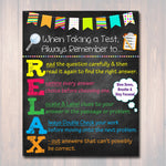 Test Taking Tips Classroom Poster, Classroom Decor, Classroom Management, Class Rules Teacher Printable Educational Poster, INSTANT DOWNLOAD