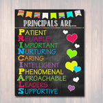 School Principal Poster, Principals Are Acronym Art, School Office Wall Art Decor, School Poster, Assistant Pricipal, School Principal Gifts