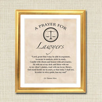 Lawyer Prayer Art, Lawyer Gift, Office Decor Lawyer Desk Art, Printable Wall Art, INSTANT DOWNLOAD Religious Lawyer, St. Thomas More Quote
